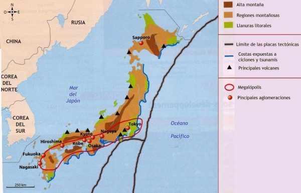 Zonas climáticas de Japón