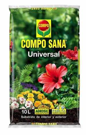 Compo Sana Universal 10 L (Tierra, Sustrato, Turba, Plantas-Calidad Garantizada-Ideal para Interior y Exterior-Contiene Agrosil y Perlita)